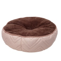Dogit DreamWell Dog Mattress Bed - Round - Beige/Brown - 50 cm dia (19.5 in)