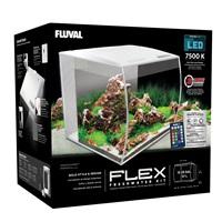 Fluval Flex Aquarium Kit - 57 L (15 US gal) - White