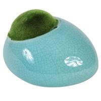 "Fluval Ceramic Ornament with Moss - Blue - Medium - 13 x 11 x 8.1 cm (5.1"" x 4.3"" x 3.2"")"