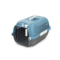 Catit Cat Carrier - Small - Blue-Grey - 48.3 L x 32.6 W x 28 H cm (19 x 12.8 x 11 in)