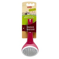 Living World Slicker Brush - Self-Cleaning
