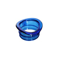 Habitrail Twist End Panel Ret.Ring-Trnsp Blue