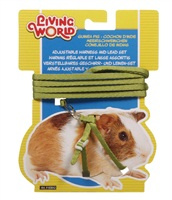 Living World Figure 8 Harness and Lead Set For Guinea Pigs - Green - 1.2 m (4 ft)