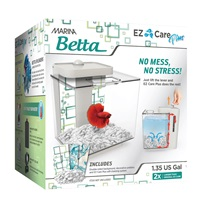 Marina Betta EZ Care Plus Aquarium Kit - White - 5 L (1.35 US gal)