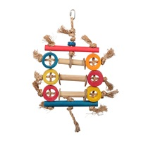 HARI Rustic TreasuresBird Toy Bamboo Ring Abacus
