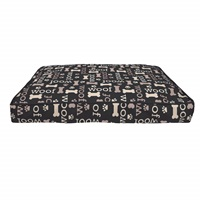 Dogit DreamWell Dog Mattress Bed - Rectangular - Black Woof - 73 x 51 x 7.6 cm (29 x 20 x 3 in)