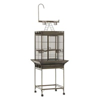 Hagen Chalet Playpen Top Cage Antique Silver - 45 x 45 x 48 cm (18 x 18 x 19 in)