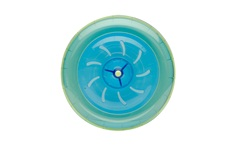 Habitrail Twist Wheel, Transparent Blue and Lime Green