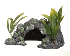 Marina Polyresin Decor Cave Ornament - Large - 13 x 29 x 19.5 cm (5.1 x 11.4 x 7.7 in)