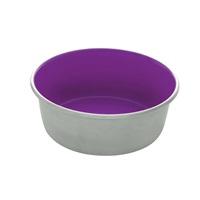 Dogit Stainless Steel Non-Skid Dog Bowl - Purple - 560 ml (19 fl.oz.)