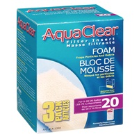 AquaClear 20 Foam Filter Insert - 3 pack