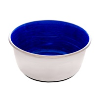 Dogit Stainless Steel Non-Skid Dog Bowl - Blue Swirl - 950 ml (32 fl.oz.)