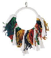 Living World Junglewood Bird Toy - Jumbo Rope Dream Catcher with Hanging Clip