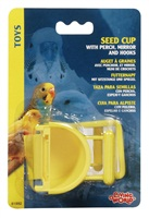 Living World Seed Cup with Perch - 30 g (1 oz)