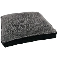 "Dogit Style Square Mattress Dog Bed-Turtle, Black, Small. 64cm x 64cm x 12.7cm (25"" x 25"" x 5"")."