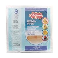 Living World Gravel Paper - Large - 8 pack - 35.5 cm (14 in) diameter
