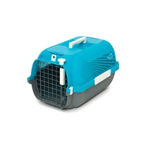 Catit Cat Carrier - Small - Turquoise - 48.3 L x 32.6 W x 28 H cm (19 x 12.8 x 11 in)