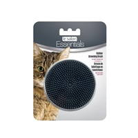 Le Salon Essentials Cat Round Rubber Grooming Brush - Charcoal - 3 in
