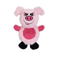 Dogit Stuffies Dog Toy – Flat Friend - Pig - 19 cm (7.5 in)