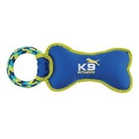 K9 Fitness by Zeus Tough Nylon Bone with Rope Tug - 30.5 cm (12.5 in)