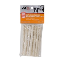 Dogit White Beefhide Twists  - 12.7 cm (5 in) – 10 pack
