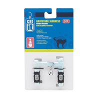 Catit Adjustable Nylon Cat Harness - Blue - Small