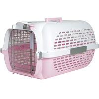 Catit Voyageur Cat Carrier - Pink/White - Medium - 56.5 cm L x 37.6 cm W x 30.8 cm H (22 in x 14.8 in x 12 in)