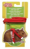 "Living World Figure 8 Harness and Lead Set For Hamsters - 75 cm (30"") - Red"
