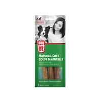 """Dogit Natural Cuts Bully Sticks - Straight - 12.7-15.2 cm (5-6"""") - 3 pack"""