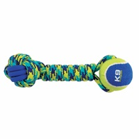 K9 Fitness by Zeus Rope and TPR Tennis Ball Dumbbell - 30.48 cm dia. (12 in dia.)
