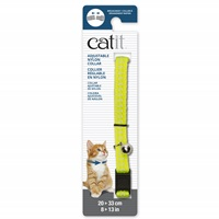 Catit Adjustable Breakaway Nylon Collar - Reflective Yellow - 20-33 cm (8-13 in)