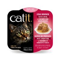 Catit Fish Dinner with Salmon & Green Beans - 80 g (2.8 oz)
