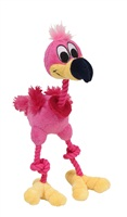 """Dogit """"Puppy Luvz"""" Plush Dog Toy with Squeaker - Pink Flamingo - 22 cm (9"""")"""