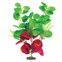 "Marina Naturals Green & Deep Red Moneywort Silk Plant - Large - 33 - 35.5 cm (13-14"")"