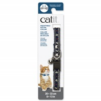 Catit Adjustable Breakaway Nylon Collar with Rivets - Blue Nautical - 20-33 cm (8-13 in)