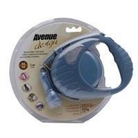 Avenue Dog Retractable Tape Leash - Blue - Medium - 5 m (16 ft)
