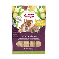 Living World Small Animal Chews - Sugarcane Stalk Sticks - 4 pieces