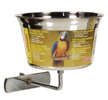 Living World Stainless Steel Parrot Cup -  Large - 960 ml (32 oz)