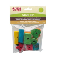 Living World Nibblers Wood Chews - Shapes Mix