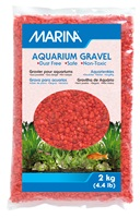 Marina Orange Decorative Aquarium Gravel - 2 kg (4.4 lb)
