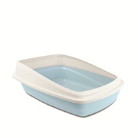Catit Cat Pan with Removable Rim - Blue & Cool Grey - Large - 43 x 57 x 22 cm (16.9 x 22.4 x 8.6 in)