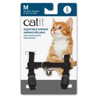 Catit Adjustable Nylon Harness - Black - Medium