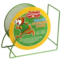 "Living World Deluxe Exercise Wheel - Green - 17.5 cm (7"")"