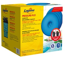 Laguna Pressure-Flo Replacement Foam - 27 cm - 5 pack