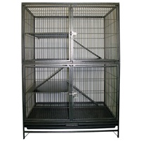 Living World Ferret Cage Knockdown Style - Hammertone Grey - 93 L x 60 W x 131 H cm