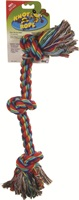 "Dogit Knot-A-Rope Tug Toy - Multicolor - XXL - 3.5 cm x 62.5 cm (1.35"" x 24"")"