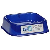 Catit Gourmet Lightweight Kitten Dish - Marine Blue