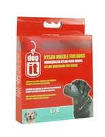 """Dogit Nylon Dog Muzzle - Black - Large - 18.5 cm (7.3"""")"""