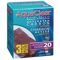 AquaClear 20 Activated Carbon Filter Insert - 135 g (4.8 oz) - 3 pack