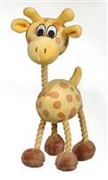 "Dogit ""Puppy Luvz"" Plush Dog Toy with Squeaker - Yellow Giraffe - 22 cm (9"")"